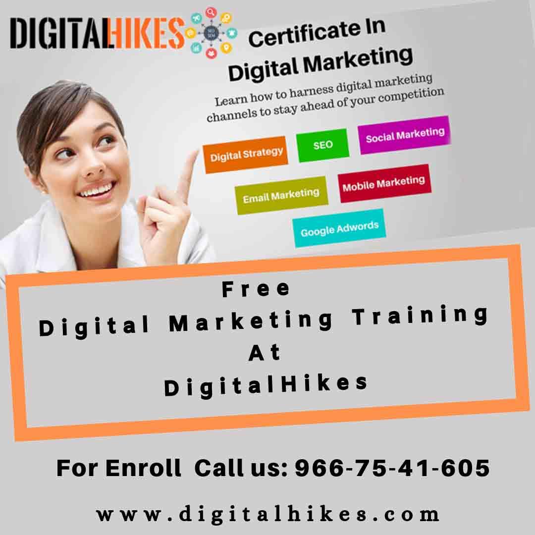 Free Digital Marketing Training At Digitalhikes.com