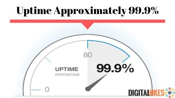 Uptime upto 99.9%