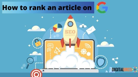 How to rank an article on Google?