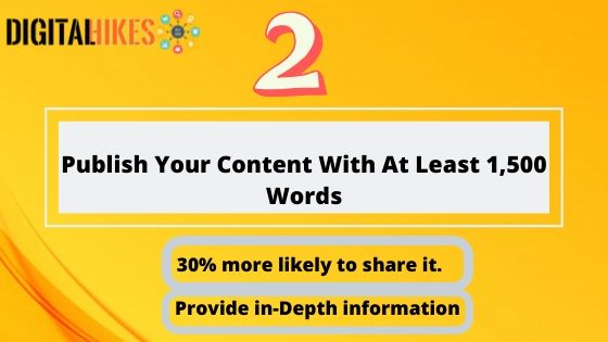 Publish Your Content With At Least 1,100 Words