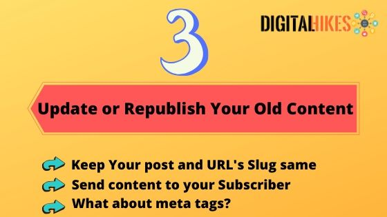 Update or Republish your old Content